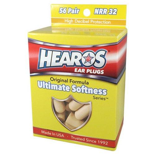 HEAROS Ultimate Softness Series Ear Plugs, Beige, 56 Pair