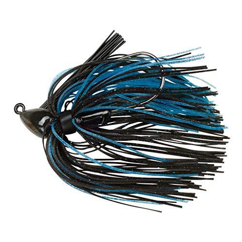 BOOYAH Boo Jig Bass Fishing Lure with Weed Guard, Black/Blue, Baby Boo Jig (5/16 oz)