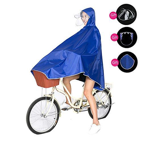 Chubasqueros para hombres y mujeres aumentan más gruesos, poncho de bicicleta al aire libre adulto impermeable bicicleta