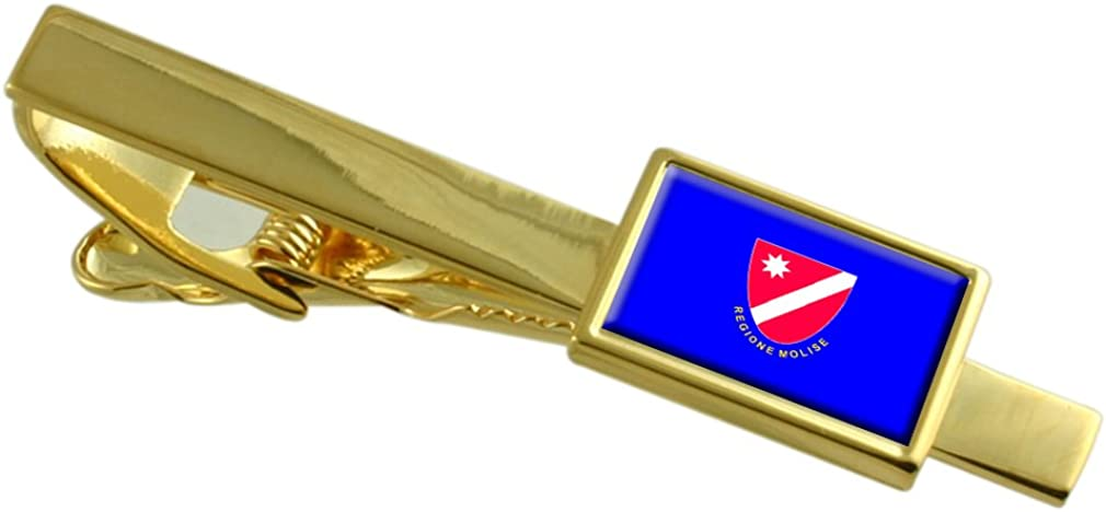 Select Gifts Molise Financial sales sale Region Italy Easy-to-use Tie Engrave Flag Clip Gold-Tone