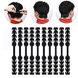 seOSTO Mask Extender, Adjustable Mask Strap Extender Mask Holder Ear Hook for Adults Kids (Black, 10pcs)