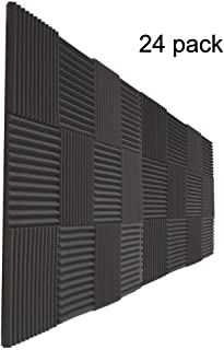 24 Pack- Acoustic Panels Studio Foam Wedges 1