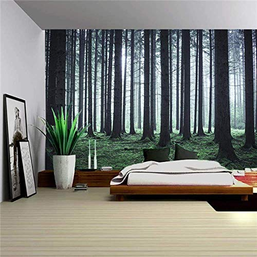 AOOEDM Nature Wall Tapestry Tree Forest Starry Sky Psychedelic Carpet Wall Tapestry Tent Hippie Tree Mandala Tapiz Landscape-13_200Cmx150Cm