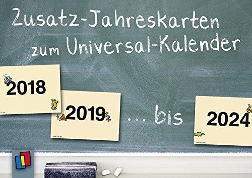 Zusatz-Jahreskarten zum Universal-Kalender, ab 2018