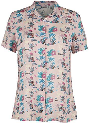 Lilo & Stitch Tropical Fun Mujer Blusa Multicolor S, 100% Viscosa, Regular