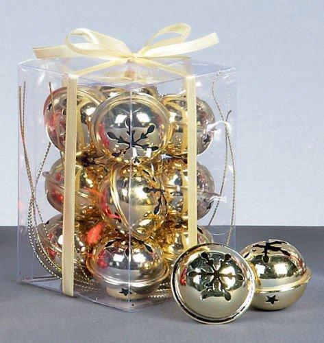 OnlineDiscountStore, 12 palline di neve dorate per albero di Natale, decorazioni artistiche
