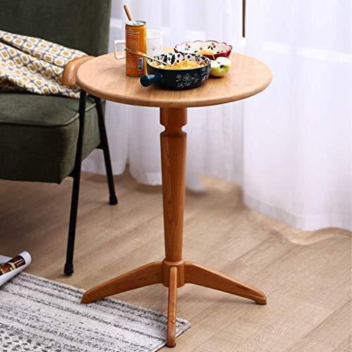 N/Z Table de Chevet d'équipement Quotidien Table d'appoint Nordique en Bois Massif Petite Table Basse pour Salon Chambre Couloir Bureau (Couleur: B)