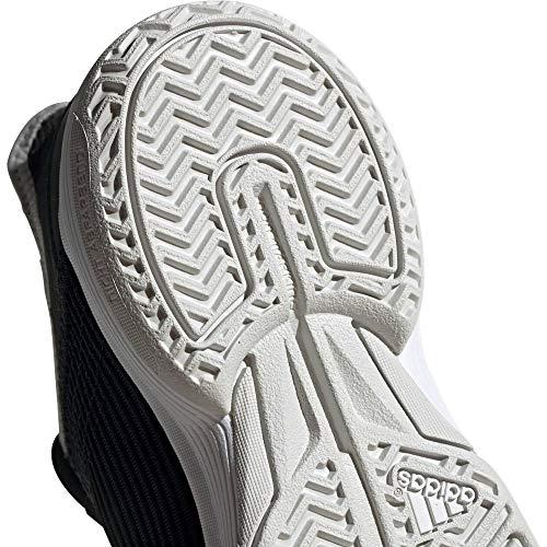 adidas Adizero Club K - Zapatillas de Tenis Unisex para niños, Color Negro, Infantil, CBLACK/FTWWHT/GREONE, 38,5