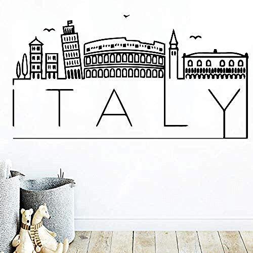 Muurstickers muurschilderingen Decals Art Italië Kaart Accessoires Vinyl Decor 45X85cm