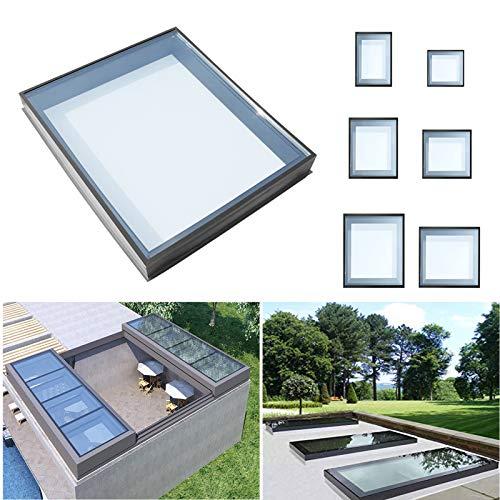 FUKEA Flat Roof Skylight Glass Flat Roof Lantern Rooflight Toughened Triple Glazed Laminated Glass Window Rooflight (1000 x 1200 mm)