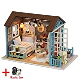 AIYASIWEI Gute Qualität Puppenhaus Miniatur DIY Modell Puppenhaus mit Möbeln amerikanischen...