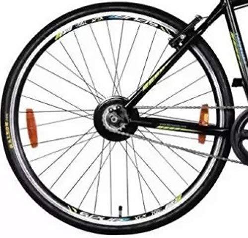 HERO CYCLES unisex-adult Steel Sprint Unisex Traveller 700C Single Speed Cycle Road Bike (Black and Green)