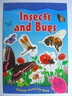 Insects And Bugs Sticker Activity Book With Over 70 Reusable Stickers