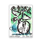 Marc Chagall Vintage Ausstellung Poster, Chagall Galerie
