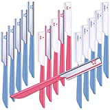15 Pieces Women Facial Razor Eyebrow Shaver Razor Eyebrow Shaper Multipurpose Eyebrow Trimmer Dermaplaner Shaping Tool with Cover for Women Girls Trimming Shaping Eyebrows Favors, Pink+Blue