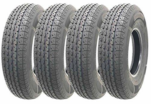 Set of 4 Heavy Duty Trailer Tires ST205/90R15 (7.00R15)10 PR load range E