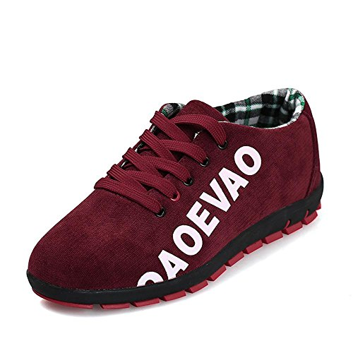 Hommes Unisexe Couple Sneakers Casual Toile Chaussures Solide Couleurs Low Top Lace Up Flat Fashion , a , 38