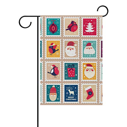 XiangHeFu Tuin Vlag Kerst Patroon Stempel 12x18 Inches (12