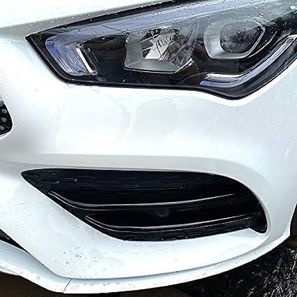 Schwarz C-Klasse CLA C118 CLA200 260 2020 Timagebreze Nebel Scheinwerfer Abdeckung K/üHler Grill Lamellen Aufkleber Dekorations Streifen f/ür Mercedes