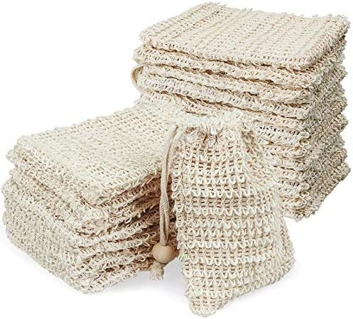 20 Pack Soap Bag Natural Sisal Soap Saver Soap Exfoliating Bag Mesh Soap Bag for Bath Shower product image