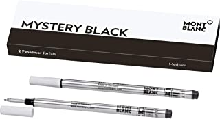 Montblanc Fineliner Refills (M) Mystery Black 110149 – Pen Refills for Fineliner and..