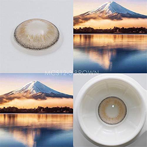 Ndegdgswg Sehr Undurchsichtige Und Natürliche Kontaktlinsen, Farbige Kontaktlinsen, Dekorative Augen 14.2Mm Mcs12-3 Braun