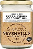 Sevenhills Wholefoods 500ml Organic Extra Virgin Raw Coconut Oil (Cold-Pressed) for Cooking, Baking