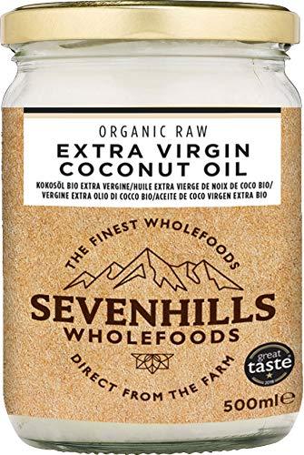 Sevenhills Wholefoods Aceite De Coco Virgen Extra Orgánico, Crudo, Prensado En Frío 500ml,