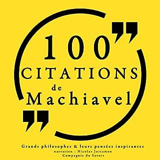 Couverture de 100 citations de Machiavel