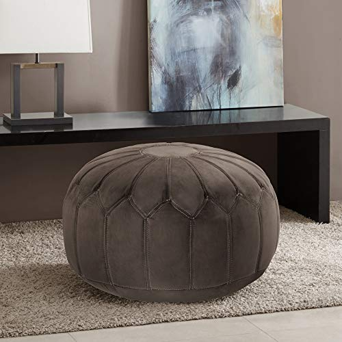 Madison Park Kelsey Round Pouf Ottoman  $93 at Amazon