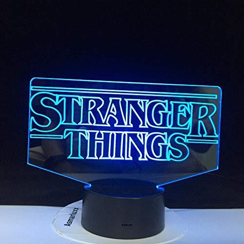 Die TV-Show Stranger Things Best Present,für Erwachsene für Innendekoration Batteriebetriebene Dropship 3D-Lampe Led Nachtlichtlampe