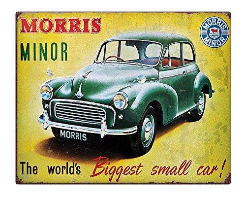 """Morris Minor retro car rusty effect dad Metal Sign 10x8"""" SELF ADHESIVE 258"""