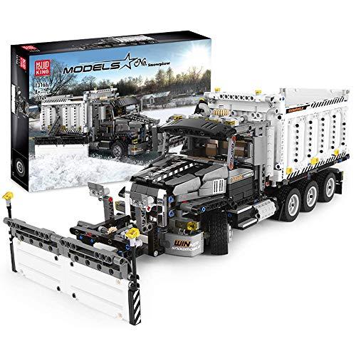 JW-YZWJ Bloques de construcción de quitanieves, Kits de construcción Snowplow estáticos compatibles con la técnica Lego