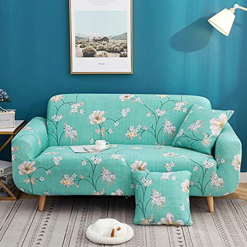 ZPEE Elasticidad Impreso Funda para Sofá,Cubierta Completa Cubierta del Sofá Cubierta para Mascotas para Couch Sofá De Cuero,Polvo-Prueba Spandex Funda para Sofá Ajuste Couch-A 2 seat/145-185cm