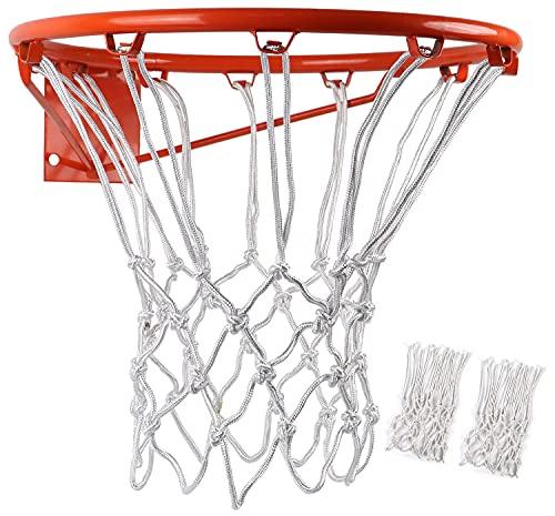 BlesMaller 2 PCS Professional Filet de Basket Ball en Nylon Durable Multicolore(Not Included Rim)