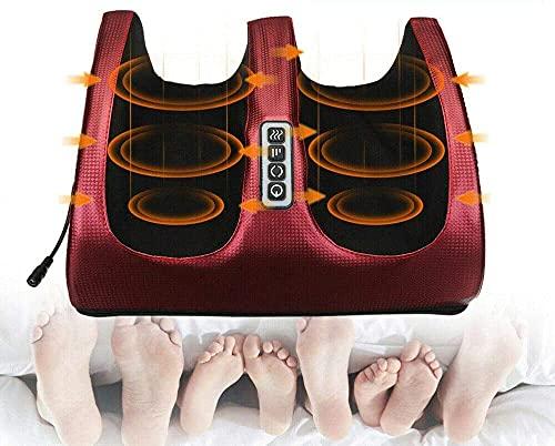 Elektro Fußmassagegerät,3D-Massage mit Hitze-elektrischer tief knetter Shiatsu-Fußmassager-Maschine,Kalb-Bein-Luftkompressions-Massage-Maschinen-Fußpflege-Maschine
