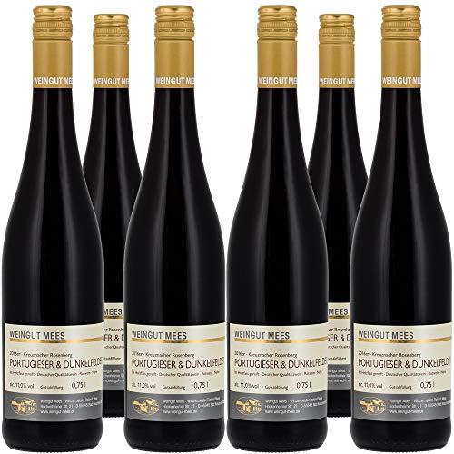 Weingut Mees PORTUGIESER & DUNKELFELDER ROTWEIN FEINHERB Cuvee 2016 Deutschland Nahe Prämiert (6 x 750 ml)