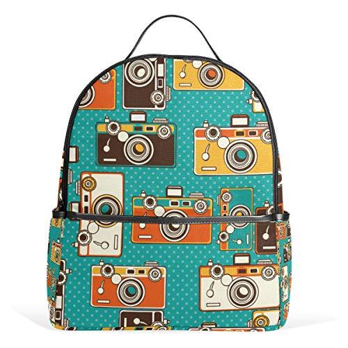 Mochila para cámaras fotográficas vintage para niños y niñas mochila escolar