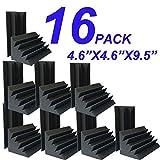 4.72'x4.72'x9.6' Sale Acoustic Foam 16 PCS in Black Bass trap Soundproof foam