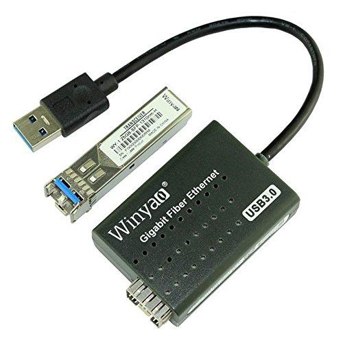Der USB 3.0zu 1000Mbps Gigabit Ethernet LAN Faser Optische Netzwerkkarte Realtek rtl8153mit SFP Optische Modul schwarz