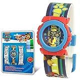 SKYLINE | Reloj Digital para Niños | Reloj de Pulsera Infantil Ajustable | 2 Correas para Pintar | Reloj de Aprendizaje | con 4 Rotuladores Incluidos Niños