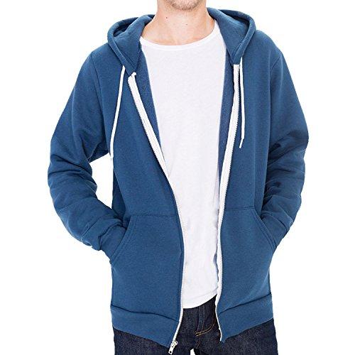 American Apparel Flex Fleece Zip Hoodie (F497) Gr. XS, ozeanblau