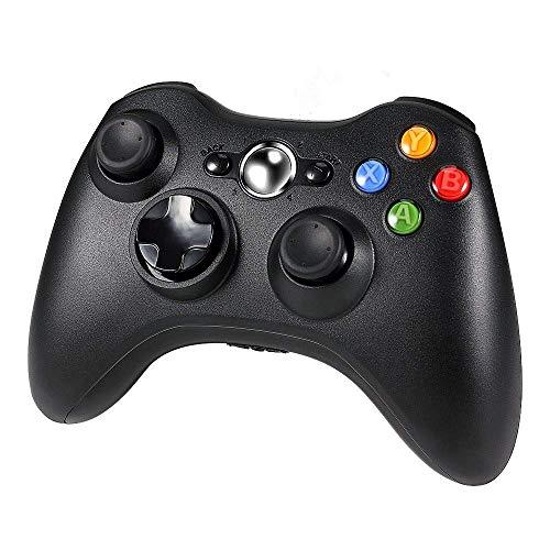 Diswoe Manette Xbox 360, Contrôleur de Jeu sans Fil pour Xbox 360 avec Double Vibration, Bluetooth Gamepad Manette du Contrôleur de Jeu, Design Ergonomique, Idéal pour Windows7/ 8/ 10/ PC/ Xbox 360、