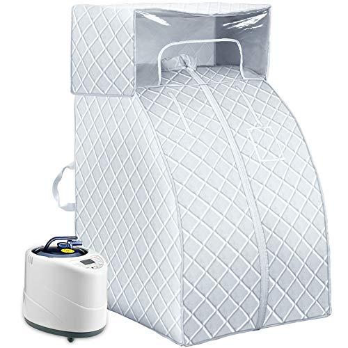 DAMAI Indoor Folding Sauna, Zuhause Dampfsauna Portables Eine Person Spa Maschine 1000W Für Abnehmen Toxin Entfernen Müdigkeit Reduzieren,Blau