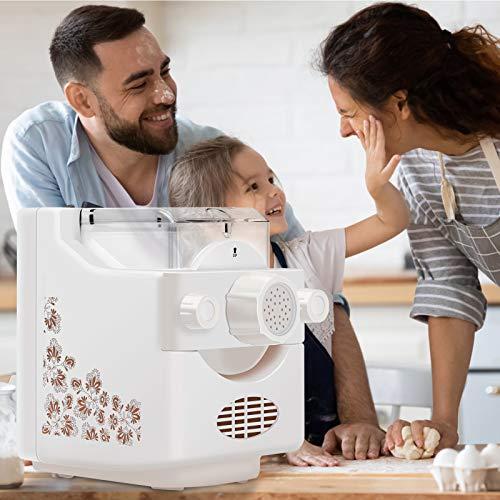 InLoveArts Elektrische Pasta Maker, Pasta und Ramen Noodle Maker,Automatische Nudelmaschine Machen Sie 1,32 Pfund hausgemachte Nudeln innerhalb von 10 Minuten, machen Sie Spaghetti,Makkaroni-Knödel