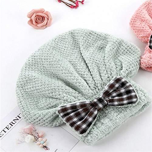 LANMISS Absorbant Cheveux secs Bonnet de Douche Adulte Chapeau Mignon Bonnet de Douche Fashion Rose Blanc