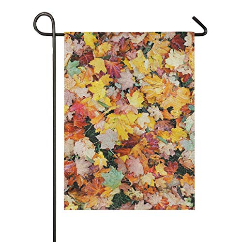N/A Indoor 12x18 Zoll Banner Outdoor Yard Buntes Ahornblatt Nahtlose Gartenflagge Einseitiges Geschenk