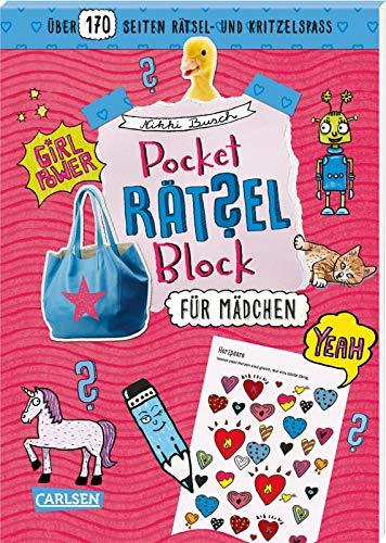 Pocket-Rätsel-Block: Für Mädchen: 100% Rätselspaß für deine Tasche
