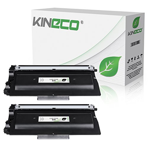 Kineco 2 Toner kompatibel für TN-3380 TN3380 für Brother HL-5450, DCP-8250DN, HL-5440, HL-5470, HL-6180, MFC-8510, MFC-8810, MFC-8950DWT - Schwarz je 8.000 Seiten