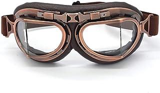 SunAll Motorrad Schutzbrille Gläser Motorrad Vintage Biker Radfahren Ski Retro Sonnenbrille Reiten Driving Brille Männer Frauen Sport im Freien